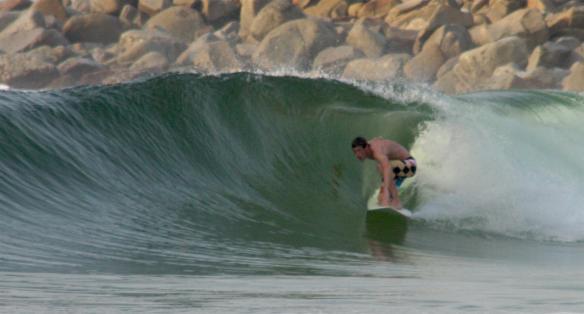 Garrett...barrel time! Photo: Rosary Walsh
