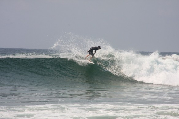 ...Fionan spray! Photo: Rosary Walsh