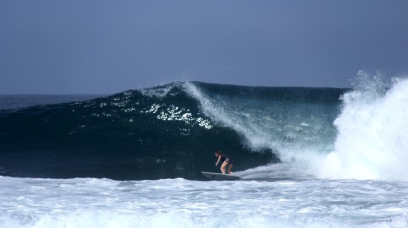 Rosary taking it on... Photo: Dylan Palmers