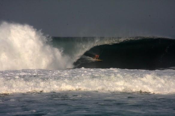 Kiwi Ricky pulling in.