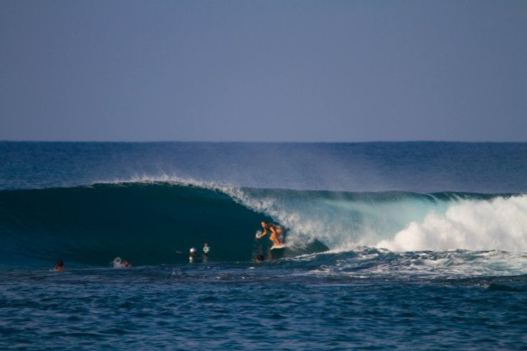 Salty Lips' Shannon surfing in the Mentawai's