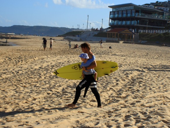 My how the tour has changed...Yadin Nicol which his little one in tow