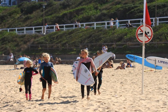 Future womens surfing champs in the making...?
