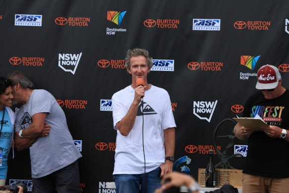 Newcastles legend and Surfest patron Mark Richard aka MR