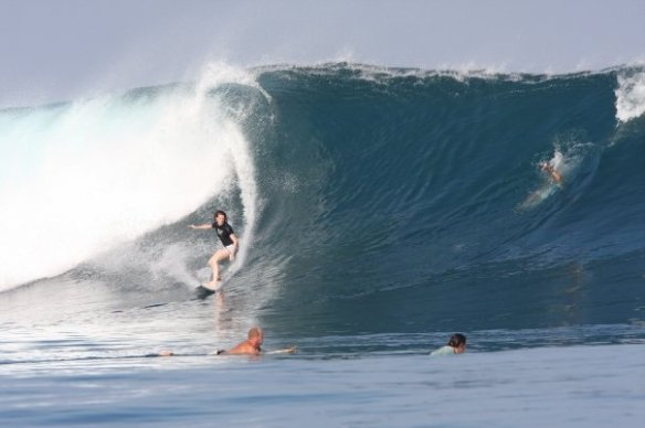 SaltyLips Rosary Walsh Surfing Indonesia 2